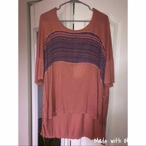 Free People Casual Tunic Style Shirt